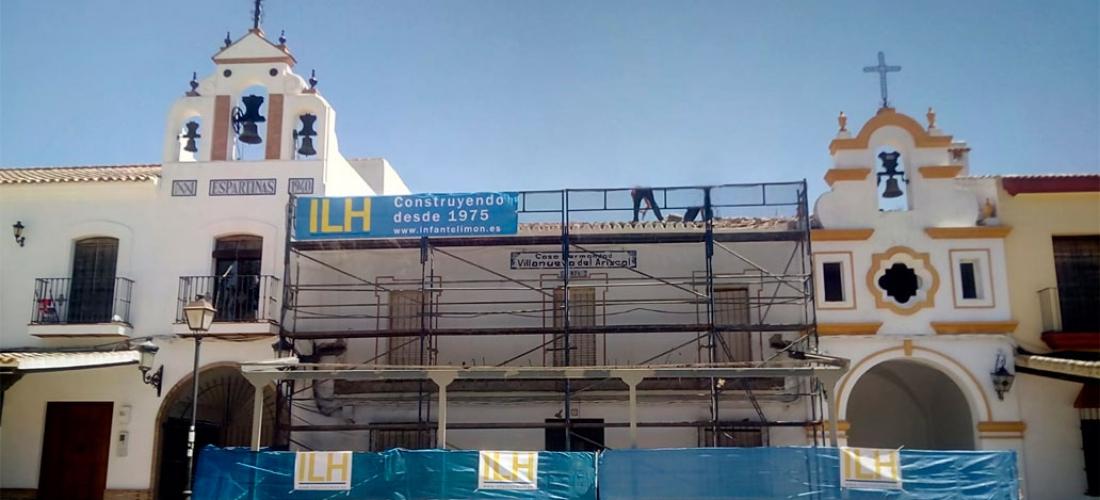 Renovación de la cubierta de la Casa de Hermandad de El Rocío de Villanueva del Ariscal