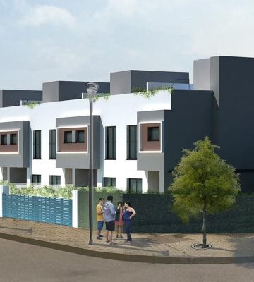 Construcción de la Promoción Auri Residencial en Camas (Sevilla)